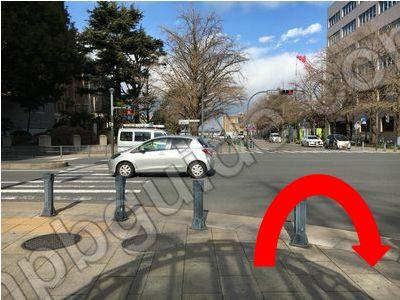 日本大通りの交差点
