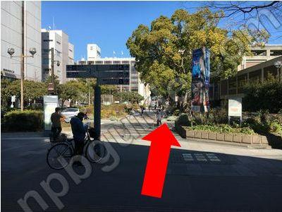 JR関内駅南口の喫煙所前