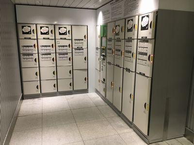 JR関内駅北口改札内ロッカーの数