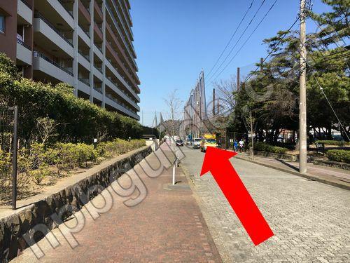 横須賀スタジアムへの道