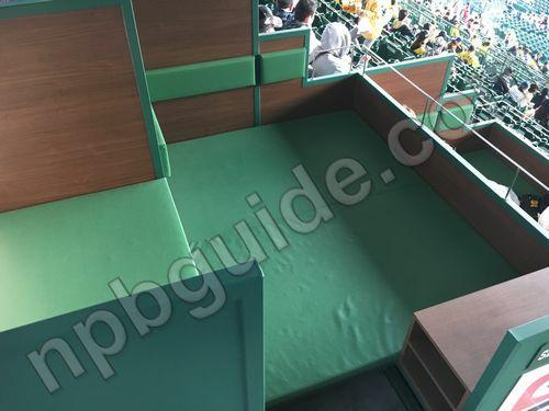 Sポイントボックスの座席