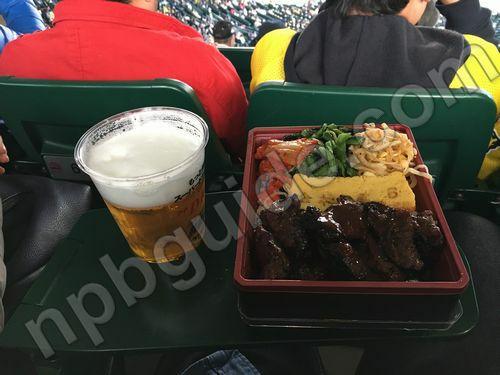ビールとお弁当