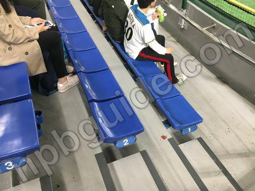 東京ドームの外野の座席