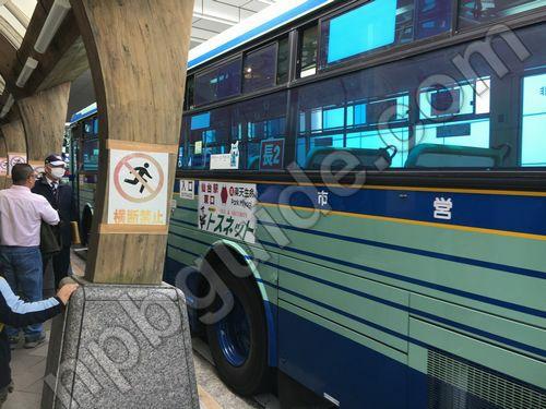 楽天球場へのシャトルバス