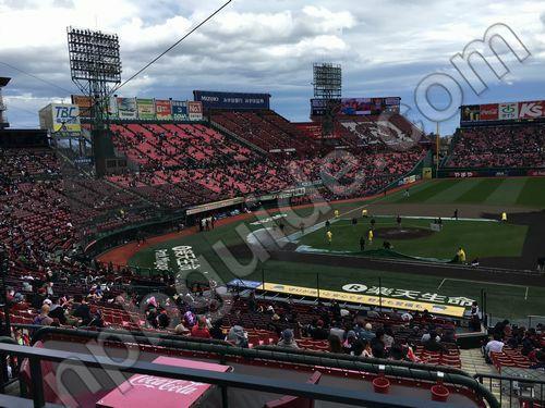 内野3塁側ボックスシートからの眺め