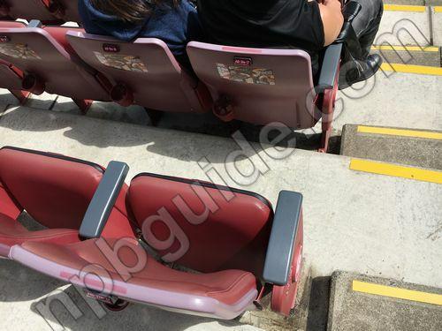 VIPシート1塁側の座席
