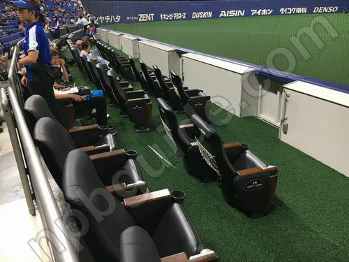 フィールドシートの座席