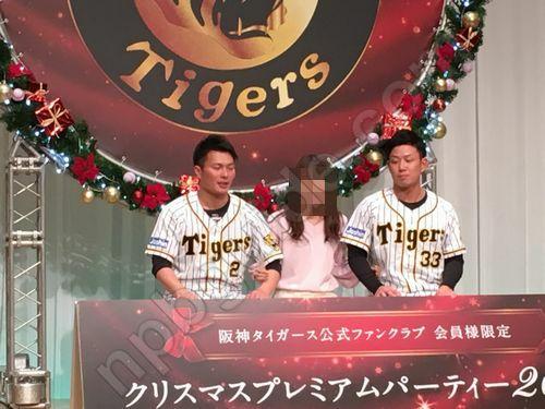 タイガースの選手と記念撮影