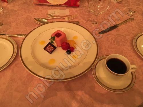ラズベリームース マスカルポーネクリーム 清美オレンジソース
