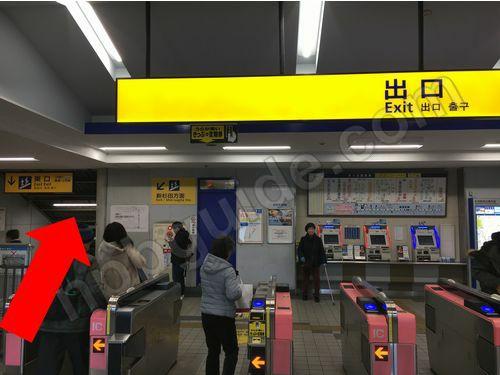 杉田駅の改札