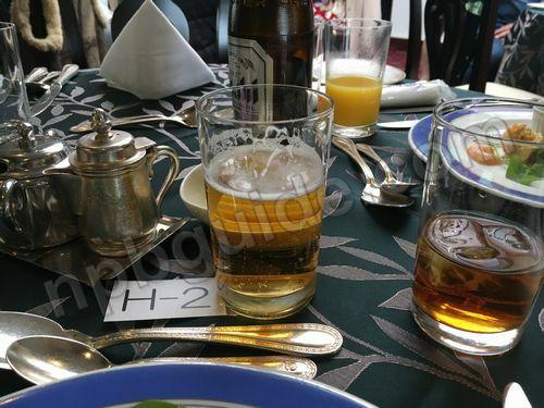 ビールとウーロン茶
