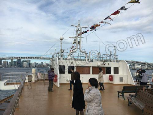 東京湾レインボーブリッジの様子