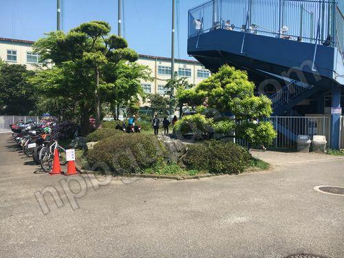 長浦ベイスターズ球場の駐輪場